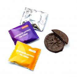 Апельсин в шоколаде с логотипом